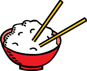 Bowl Of Rice And Chopsticks Clip Art