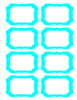 Teal Candy Jar Labels Clip Art