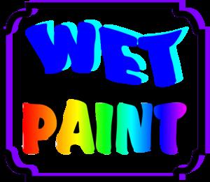 Wet Paint Signs Clip Art