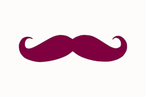 Moustache Purple Brand Clip Art