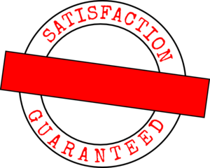 Satisfaction Guarnteed Stamp Red Clip Art