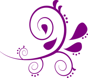 Purple Swirly Clip Art