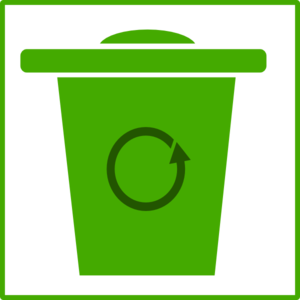 Green Trash Icon Clip Art