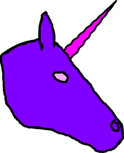 Unicorn Purple Big Clip Art