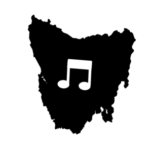 Tasmania Music Notes White Background Clip Art
