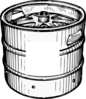 Keg With Space For Logo Clip Art