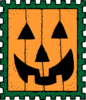 Halloween Post Stamp Clip Art
