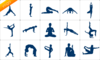 Yoga Silhouette Set Clip Art