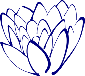 Navy Blue Lotus Clip Art