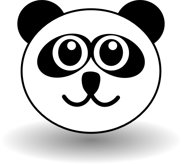 Panda face template – ddmoon. Co.