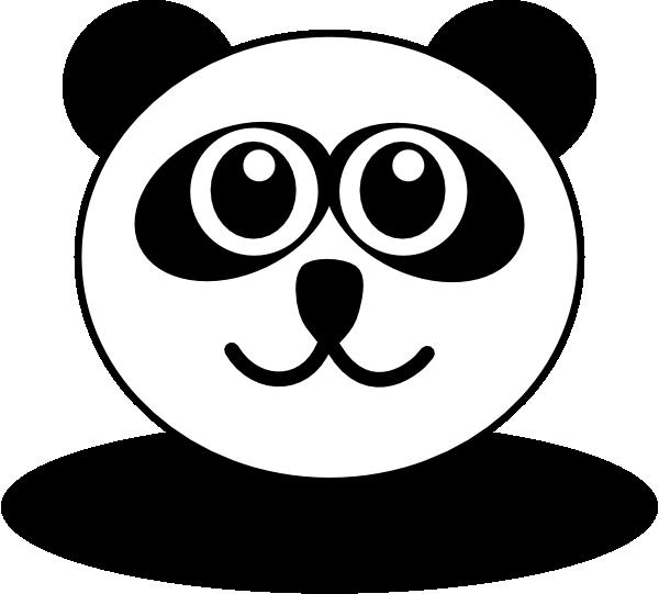 panda bear face coloring pages - photo#2
