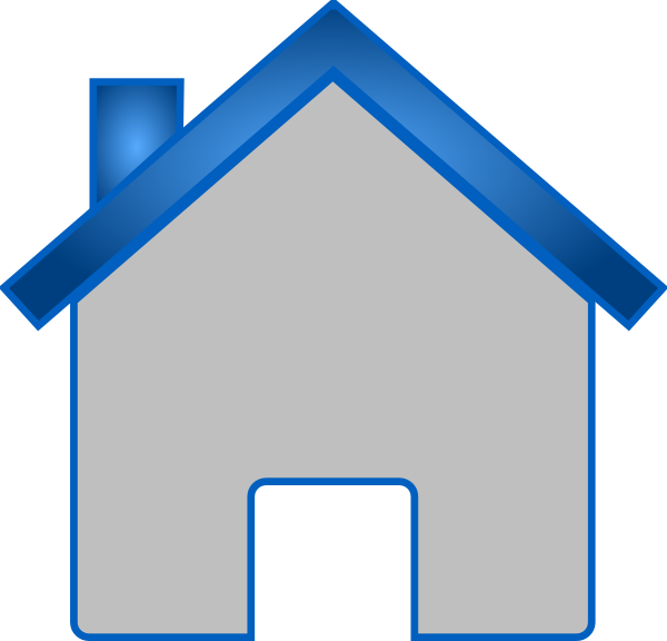 clip art blue house - photo #21