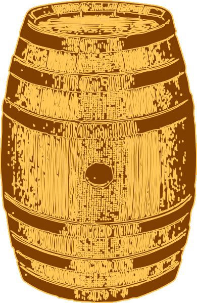 wooden barrel clip art at clker com
