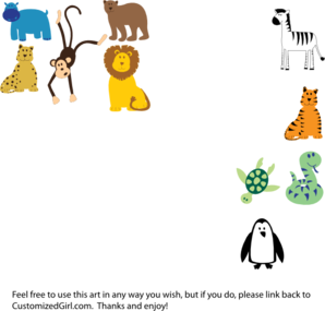 My Animals Clip Art