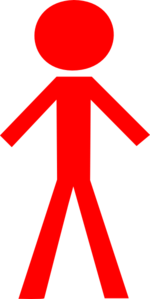 Stick Man Red Clip Art