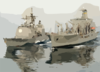 The Military Sealift Command (msc) Underway Replenishment Oiler Usns John Ericsson (t-ao 194) Refuels The Guided Missile Cruiser Uss Vella Gulf (cg 72). Clip Art