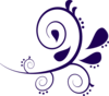 Paisley Curves Purple Clip Art