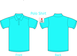 Cyan Polo Shirt-01 Clip Art