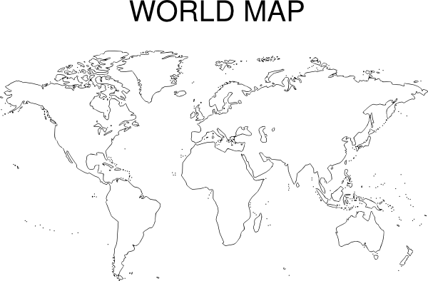 Astounding image regarding world map black and white printable