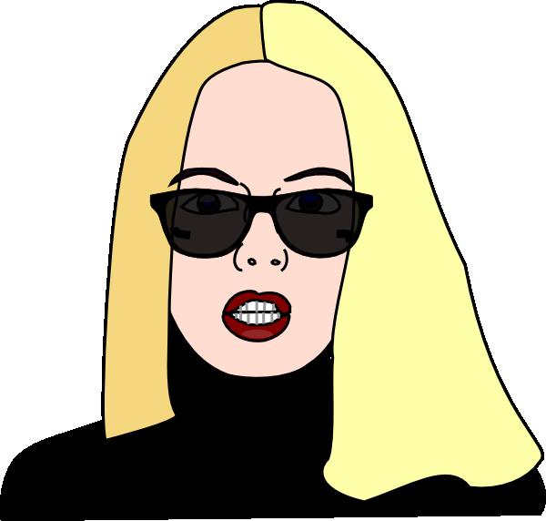 clipart girl glasses - photo #34