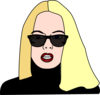 Blonde Haired Women Wearing Sunglasses Clip Art