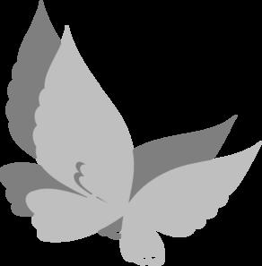 Grey Butterfly Clip Art at Clker.com - vector clip art online, royalty ...
