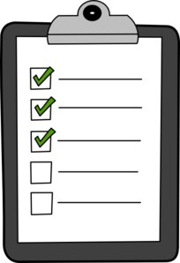 List On Clipboard With Green Checks Clip Art