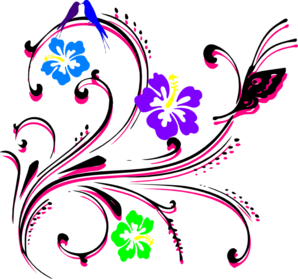 Butterfly Hibiscus Clip Art