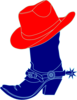 Red Cowgirl Hat And Boot Clip Art