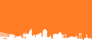 Orange Cinci Skyline Silhouette Big Clip Art