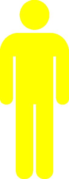 Yellow Icon Man Clip Art at Clker.com - vector clip art online ...