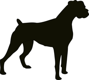 boxer silhouette clip art at clkercom vector clip art