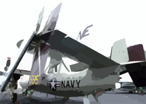 An E-2c Hawkeye From Carrier Airborne Early Warning Squadron One One Six (vaw-116) Sits On The Flight Deck Aboard Uss Constellation (cv 64) Awaiting Its Next Mission In Support Of Operation Iraqi Freedom. Clip Art
