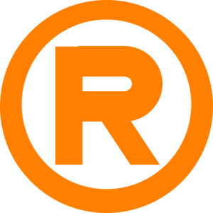 Orange Registered Mark Clip Art
