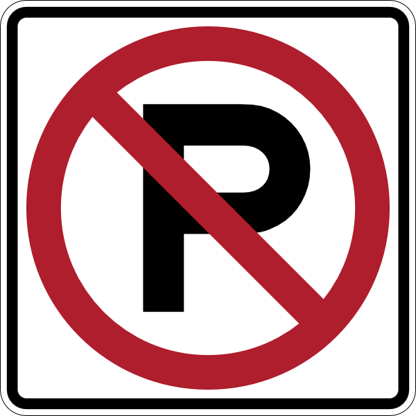 No Parking Sign Clip Art at Clker.com - vector clip art online ...