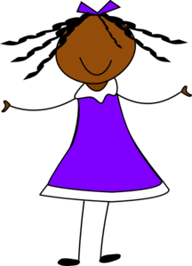 Girl In Purple Dress Clip Art