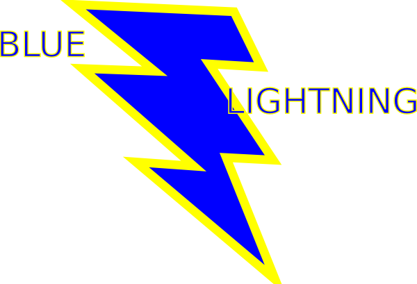 Blue And Gold Lightning Bolt Clip Art at Clker.com ...