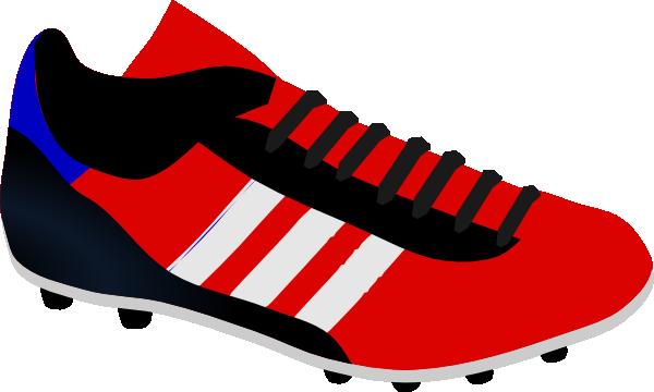 soccer shoe clip art at clker com vector clip art online royalty rh clker com show clip art image of black old people shoe clip art black and white