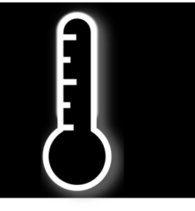 Black Thermometer Clip Art