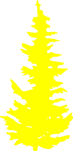 Very Yellow Tree Clip Art