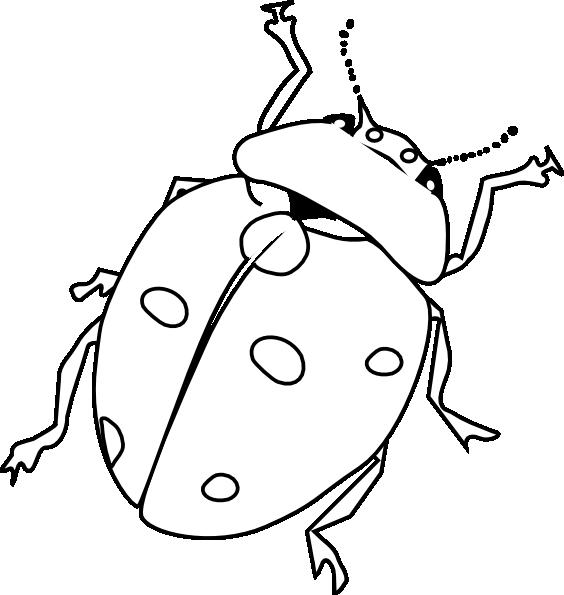 Ladybug Outline Clip Art at Clker.com - vector clip art ...