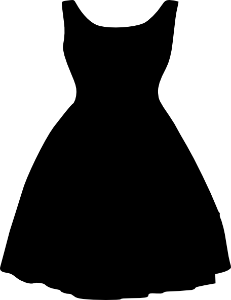 Plus Size Little Black Dress Clip Art at Clker.com ...