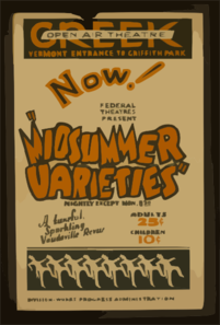 Now! Federal Theatres Present  Midsummer Varieties  A Tuneful, Sparkling Vaudeville Revue. Clip Art