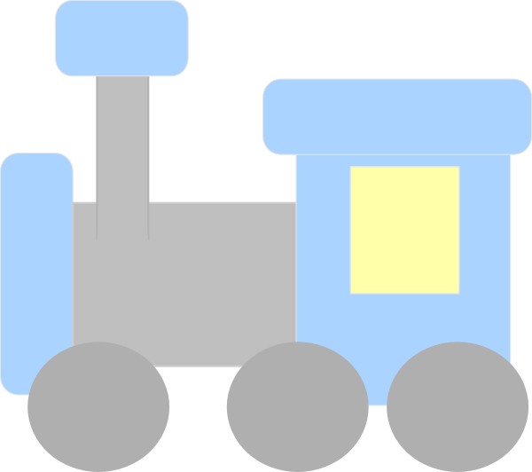 Blue And Gray Train Clip Art at Clker.com - vector clip art online ...