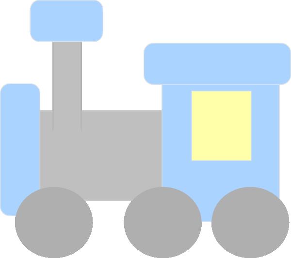 Blue And Gray Train Clip Art at Clker.com - vector clip ...