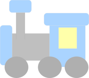Blue And Gray Train Clip Art