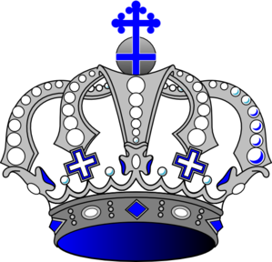 King crown clip art blue - photo#21