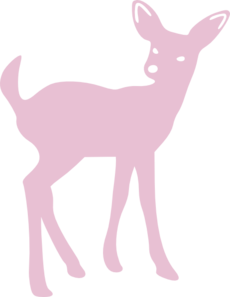 Pink Cute Deer Clip Art at Clker.com - vector clip art online, royalty ...