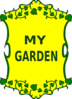 Garden Sign Clip Art