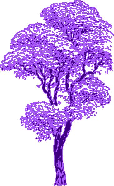 purple tree clip art at clker com vector clip art online royalty rh clker com Family Tree Clip Art Blue Tree Clip Art